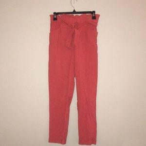 zara paper bag dress pants